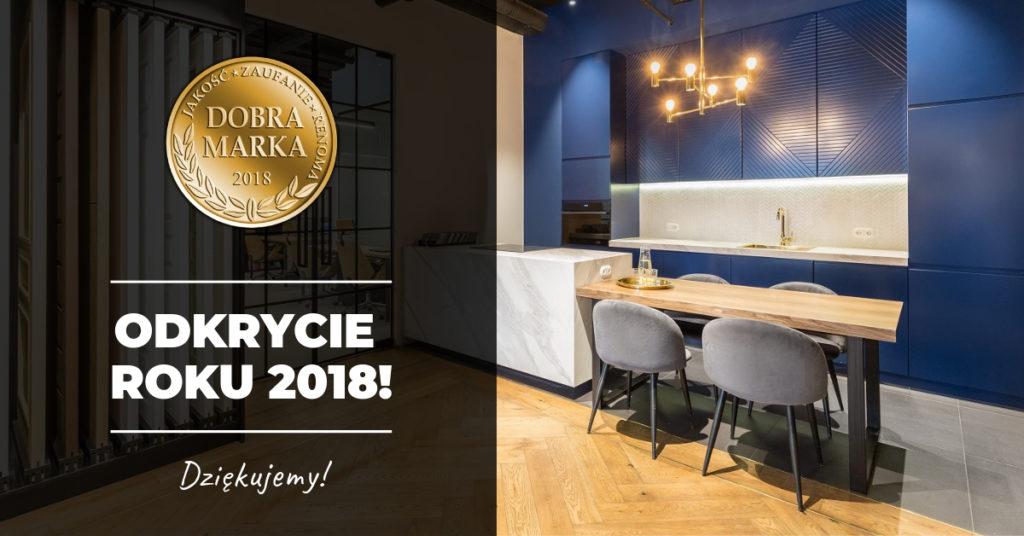 DEER DESIGN jako ODKRYCIE ROKU 2018! Otrzymaliśmy certyfikat Dobra Marka 2018!