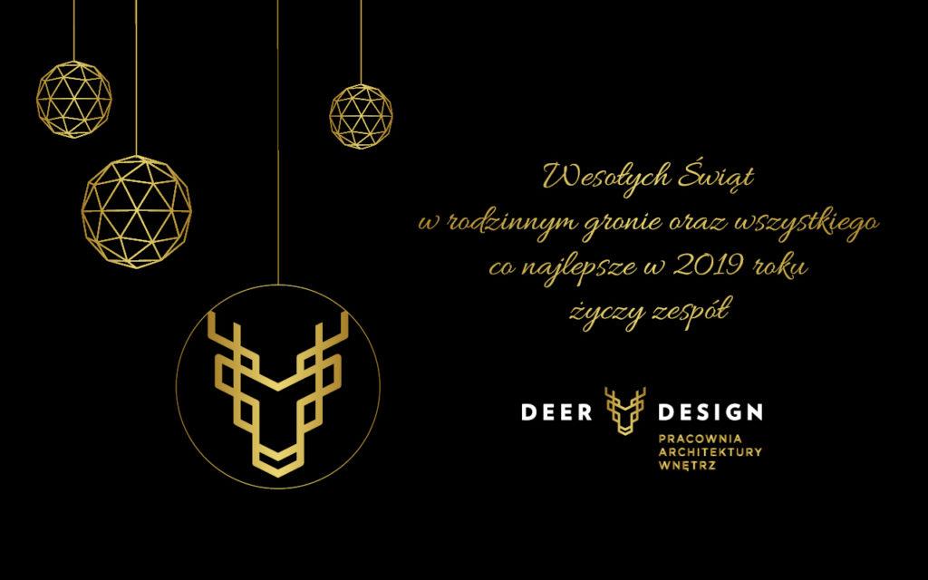 Wesołych Świąt życzy DEER DESIGN!